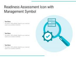 Readiness Assessment Icon With Management Symbol