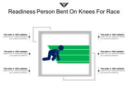 Readiness Person Bent On Knees For Race