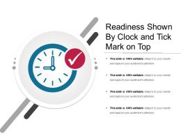 Readiness Shown By Clock And Tick Mark On Top