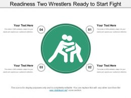 Readiness Two Wrestlers Ready To Start Fight