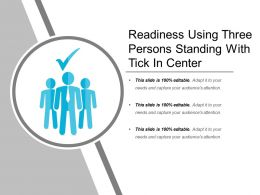 Readiness Using Three Persons Standing With Tick In Center