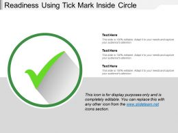 Readiness Using Tick Mark Inside Circle