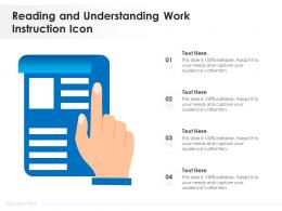 Reading And Understanding Work Instruction Icon
