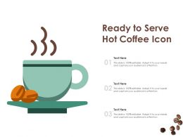 Ready To Serve Hot Coffee Icon