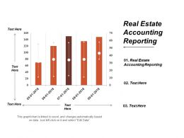 Real Estate Accounting Reporting Ppt Powerpoint Presentation File Clipart Images Cpb