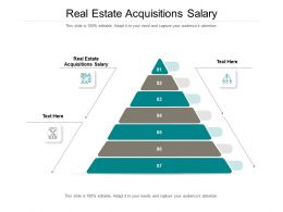 Real Estate Acquisitions Salary Ppt Powerpoint Presentation Professional Outline Cpb