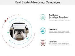 Real Estate Advertising Campaigns Ppt Powerpoint Presentation Infographics Tips Cpb