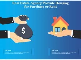 Real Estate Agency Provide Housing For Purchase Or Rent