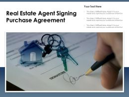 Real Estate Agent Signing Purchase Agreement