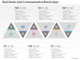 Real Estate And Communication Based Apps Flat Powerpoint Design