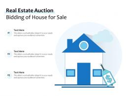 Real Estate Auction Bidding Of House For Sale