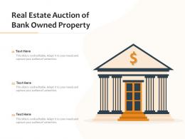 Real Estate Auction Of Bank Owned Property