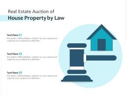 Real Estate Auction Of House Property By Law