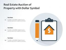 Real Estate Auction Of Property With Dollar Symbol