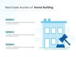 Real Estate Auction Of Rental Building
