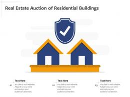 Real Estate Auction Of Residential Buildings
