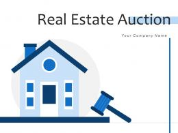 Real Estate Auction Residential Dollar Symbol Buildings Contract