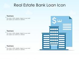 Real Estate Bank Loan Icon