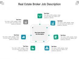 Real Estate Broker Job Description Ppt Powerpoint Presentation Portfolio Tips Cpb