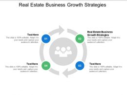 Real Estate Business Growth Strategies Ppt Powerpoint Presentation Backgrounds Cpb