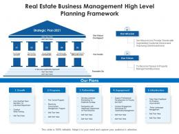 Real Estate Business Management High Level Planning Framework