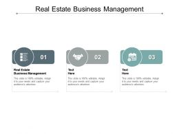 Real Estate Business Management Ppt Powerpoint Presentation Layouts Slide Cpb