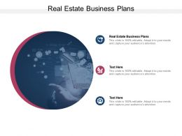 Real Estate Business Plans Ppt Powerpoint Presentation Professional Cpb