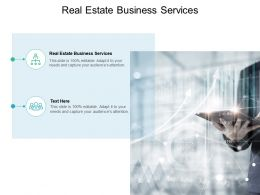Real Estate Business Services Ppt Powerpoint Presentation Outline Background Image Cpb