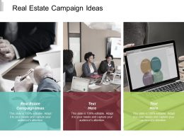 Real Estate Campaign Ideas Ppt Powerpoint Presentation Slides Format Cpb