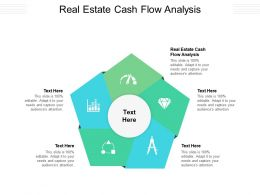 Real Estate Cash Flow Analysis Ppt Powerpoint Presentation Summary Pictures Cpb
