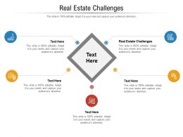 Real Estate Challenges Ppt Powerpoint Presentation Styles Diagrams Cpb