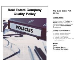 Real Estate Company Quality Policy