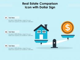 Real Estate Comparison Icon With Dollar Sign