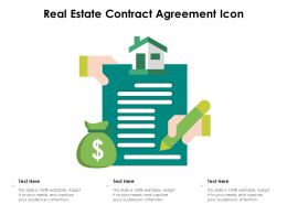 Real Estate Contract Agreement Icon