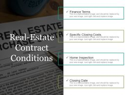 Real Estate Contract Conditions Ppt Slides Download