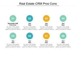 Real Estate CRM Pros Cons Ppt Powerpoint Presentation Icon Design Templates Cpb
