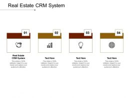 Real Estate CRM System Ppt Powerpoint Presentation Professional Background Images Cpb