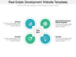 Real Estate Development Website Templates Ppt Powerpoint Presentation Pictures Graphics