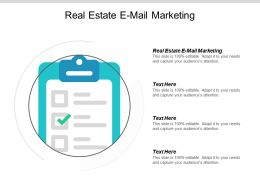 Real Estate E Mail Marketing Ppt Powerpoint Presentation Diagram Lists Cpb