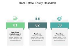 Real Estate Equity Research Ppt Powerpoint Presentation Styles Introduction Cpb