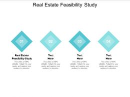 Real Estate Feasibility Study Ppt Powerpoint Presentation Show Good Cpb