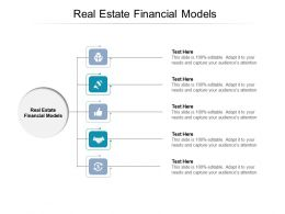 Real Estate Financial Models Ppt Powerpoint Presentation Model Portfolio Cpb