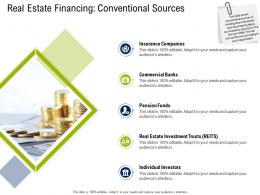 Real Estate Financing Conventional Sources Commercial Real Estate Property Management Ppt Grid