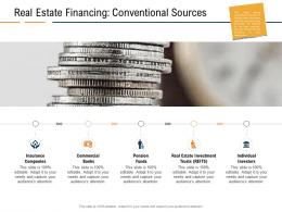 Real Estate Financing Conventional Sources Real Estate Industry In Us Ppt Powerpoint Tips
