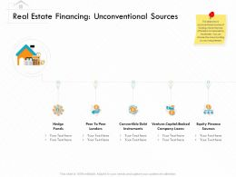 Real Estate Financing Unconventional Sources Debt Ppt Powerpoint Presentation Model Ideas