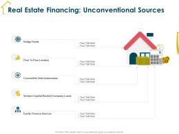 Real Estate Financing Unconventional Sources Lenders Ppt Powerpoint Presentation Styles Tips