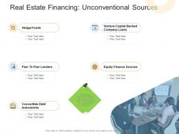 Real Estate Financing Unconventional Sources Real Estate Management And Development Ppt Infographics
