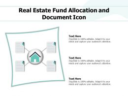 Real Estate Fund Allocation And Document Icon
