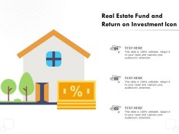 Real Estate Fund And Return On Investment Icon