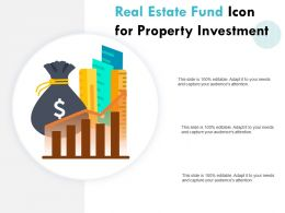 Real Estate Fund Icon For Property Investment